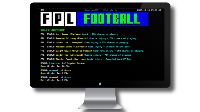 Like the FPL Videprinter? You can now support its development...